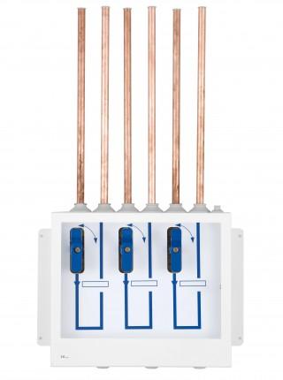 Nødafspærringsboks for 3 valgfrie medicinske gasser